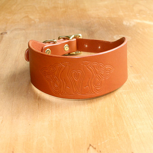 Buckle Collar Celtic Knotwork Greyounds