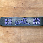 Celtic Lurcher Leather Buckle Collar (1.5 inch wide)