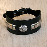 Celtic Metal Leather Buckle Collar (2 inch) wide