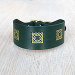 Buckle collar with Celtic Squares
