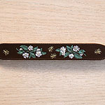 Dog Roses Leather Buckle Collar (1.5 inch wide)