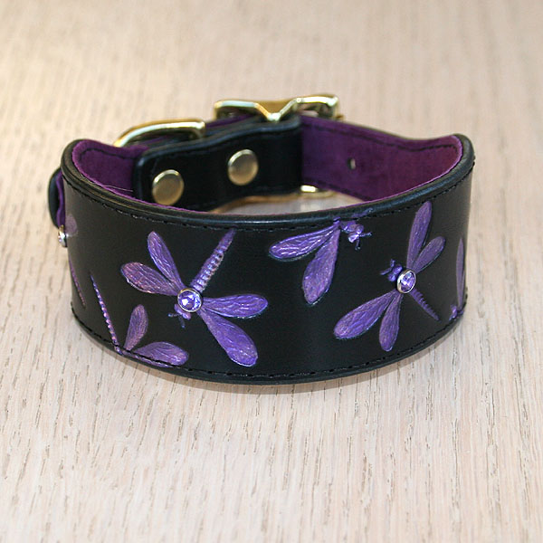 Luxury Iridescent Dragonfly Buckle Collar 1.5 inch