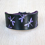 Luxury buckle collar with dragonflies