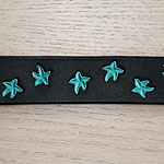 Painted Starfish Leather Buckle Collar (small)