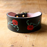 Poppies buckle collar