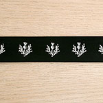 Painted Thistles Leather Buckle Collar (2 inch wide)