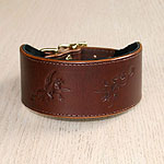 Renaissance Leather Buckle Collar (2 inch wide)