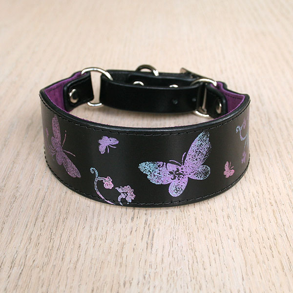 Printed Butterflies martingale collar