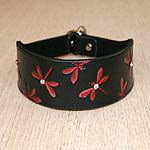 Luxury Leather Dragonfly Slip Collar (2 inch wide)