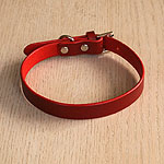 Leather Straight Collar (¾ inch wide)