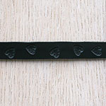 Swirly Hearts Straight Leather Collar (⅝ inch wide)