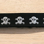 Painted Skulls Leather Buckle Collar (1.5 inch wide)