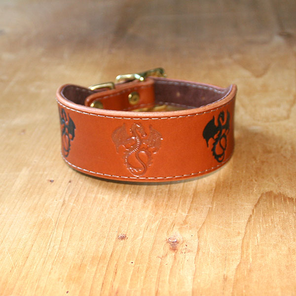 RTB Painted Dragons Buckle Collar (1.5 inch wide)