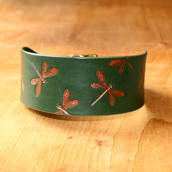 RTB Copper Dragonflies Buckle Collar (2 inch wide)