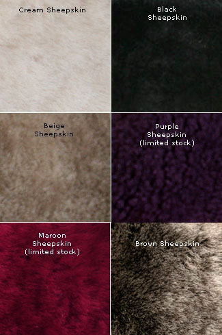 Available Sheepskin Lining Colours